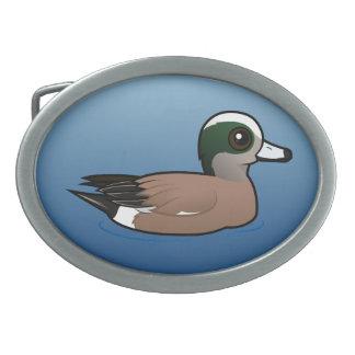 Birdorable American Wigeon Oval Belt Buckles