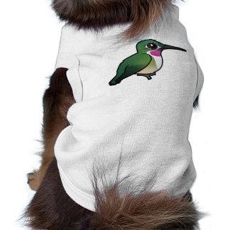 Birdorable Amplio-ató el colibrí Playera Sin Mangas Para Perro