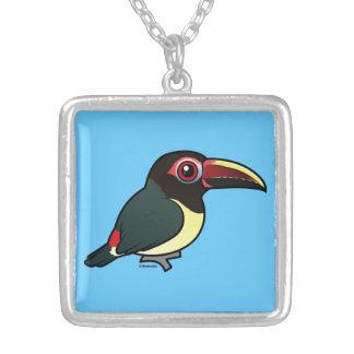 Birdorable Aracari verde Collar Plateado