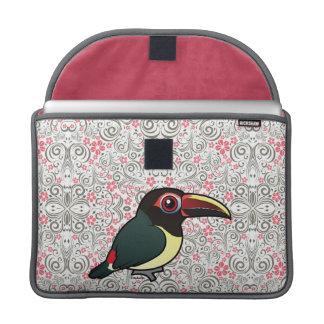 Birdorable Aracari verde Fundas Para Macbooks
