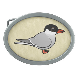 Birdorable Arctic Tern Oval Belt Buckle