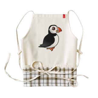 Birdorable Atlantic Puffin Zazzle HEART Apron