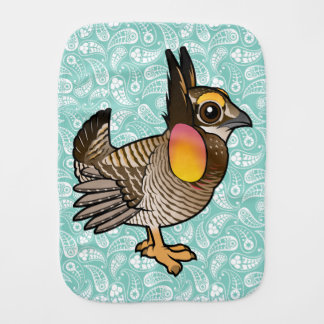 Birdorable Attwater's Prairie Chicken Baby Burp Cloth