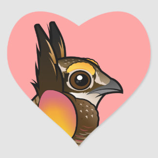 Birdorable Attwater's Prairie Chicken Heart Sticker