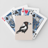 Australian Magpie Playing Cards
