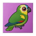 Birdorable Azul-afrontó el loro Azulejo Ceramica