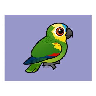 Birdorable Azul-afrontó el loro Postales