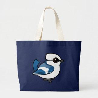 Birdorable Azure Tit Large Tote Bag