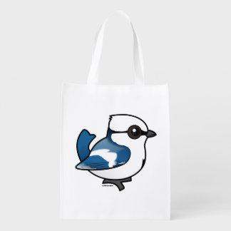 Birdorable Azure Tit Reusable Grocery Bag