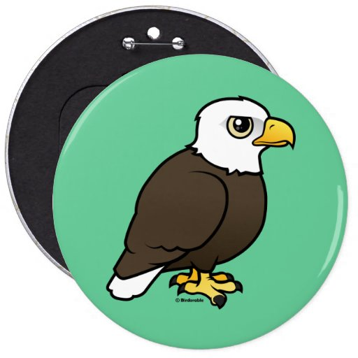 Birdorable Bald Eagle 6 Inch Round Button