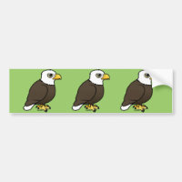 Adult Bald Eagle Bumper Sticker