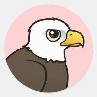 Adult Bald Eagle Round Sticker
