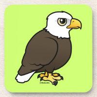 Adult Bald Eagle Beverage Coaster
