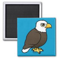 Adult Bald Eagle Square Magnet
