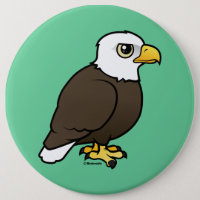 Adult Bald Eagle Round Button