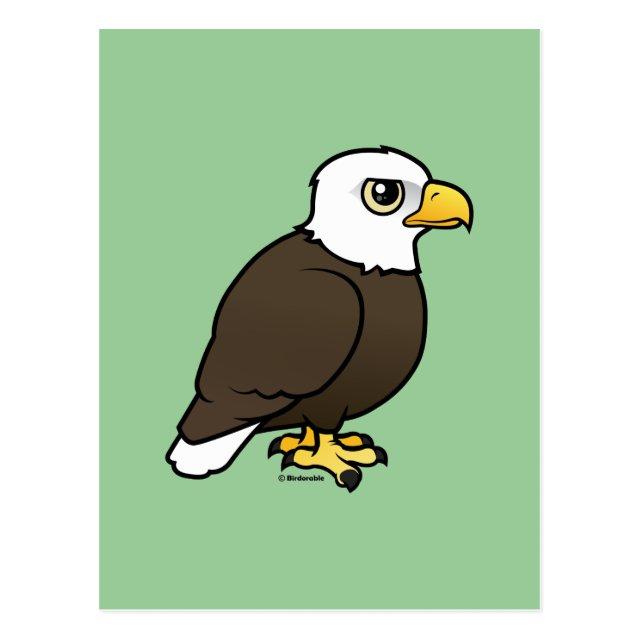 Birdorable Adult Bald Eagle Postcard Cute Bird Gifts