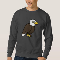 Adult Bald Eagle Men's Basic Sweatshirt