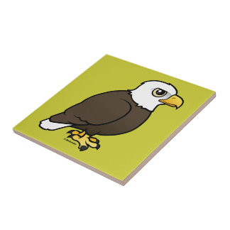 Birdorable Bald Eagle Small Square Tile