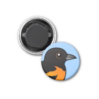 Birdorable Baltimore Oriole 1 Inch Round Magnet