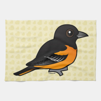 Birdorable Baltimore Oriole Kitchen Towel
