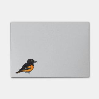 Birdorable Baltimore Oriole Post-it Notes
