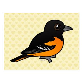 Birdorable Baltimore Oriole Postcard
