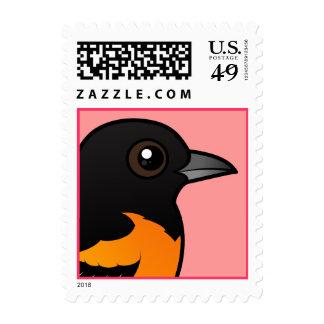 Birdorable Baltimore Oriole Stamp