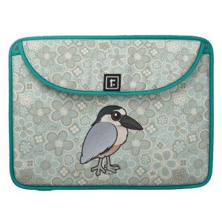Birdorable Barco-cargó en cuenta la garza Funda Para Macbook Pro