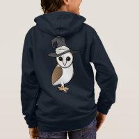 Barn Owl Witch Kids' Basic Zip Hoodie