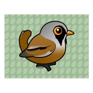 Birdorable Bearded Reedling Postcard