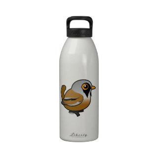 Birdorable Bearded Reedling Reusable Water Bottles