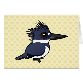 Birdorable Belted Kingfisher (male) Card