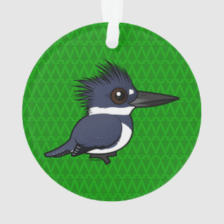 Birdorable Belted Kingfisher (male) Ornament