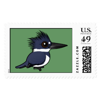 Birdorable Belted Kingfisher (male) Postage