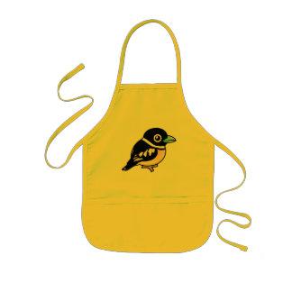 Birdorable Black-and-yellow Broadbill Aprons