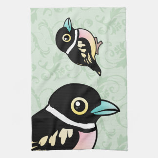 Birdorable Black-and-yellow Broadbill Kitchen Towels