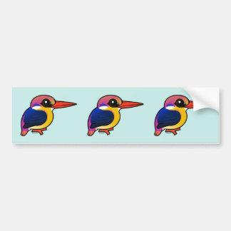 Birdorable Black-backed Dwarf-Kingfisher Bumper Sticker