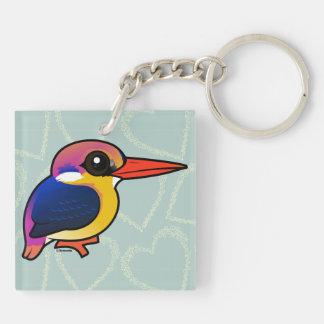 Birdorable Black-backed Dwarf-Kingfisher Keychain