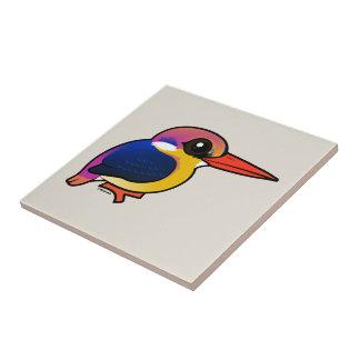 Birdorable Black-backed Dwarf-Kingfisher Tile