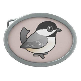 Birdorable Black-capped Chickadee Oval Belt Buckle