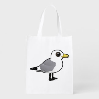 Birdorable Black-legged Kittiwake Reusable Grocery Bag