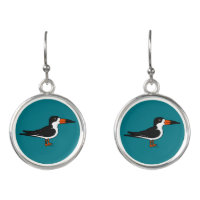 Black Skimmer Drop Earrings