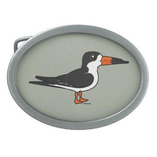 Birdorable Black Skimmer Oval Belt Buckle