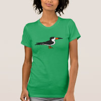 Black Skimmer Women's American Apparel Fine Jersey Short Sleeve T-Shirt