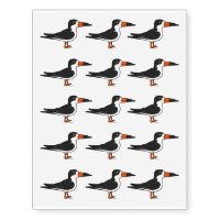 Black Skimmer Temporary Tattoos