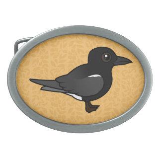 Birdorable Black Tern Oval Belt Buckle