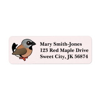 Birdorable Black-throated Finch Label