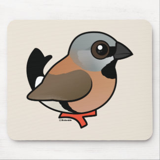 Birdorable Black-throated Finch Mouse Pad