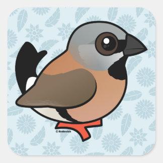 Birdorable Black-throated Finch Square Sticker