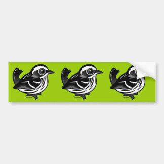 Birdorable Black & White Warbler Bumper Sticker